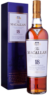 The Macallan Sherry Oak Scotch Single Malt 18 Year 750ml